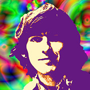 Beatles Digital Art - Its All Too Much by Stephen Lawrence Mitchell