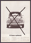 Volkswagen Beetle Framed Prints - Its Been Replaced Framed Print by Nomad Art And  Design