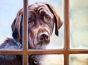 Labrador Retriever Pastels - Its Cold Out Here by Debbie Patrick