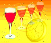 Joyce Dickens Digital Art Prints - Its Five Oclock Somewhere Print by Joyce Dickens
