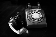 Antique Telephone Photos - Its For You bw by Cheryl Young