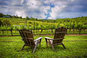 Wineries Metal Prints - Its Happy Hour Metal Print by Debra and Dave Vanderlaan