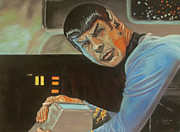 Star Trek Pastels Framed Prints - Its Like Nothing Weve Seen Before Framed Print by Lana Tyler