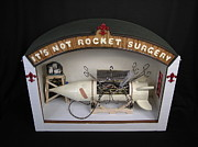 Sculptures Mixed Media Prints - Its Not Rocket Surgery Print by Czappa