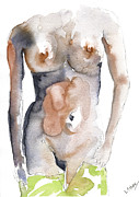 Silver Nude Paintings - Its now or never by John Silver