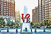 Love Park Framed Prints - Its Only Love Framed Print by Bill Cannon