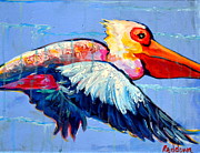 Raining Paintings - Its raining Pelicans by Dawn Gray Moraga
