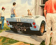 Sports Cars Paintings - Its Ready by Robert Hooper