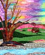 Bright Tapestries - Textiles Originals - Its Spring by Maureen Wartski