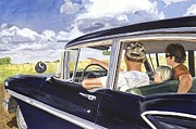 Buick Paintings - Its the Journey Not the Destination by Marcia Davis