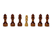 Chess Set Prints - Its The Retinue That Makes The King 2 Print by Alexander Senin