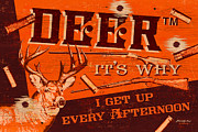 Bruce Painting Posters - Its Why deer Poster by JQ Licensing