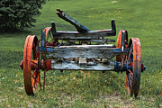 Hay Wagon Framed Prints - Its Work Is Done Framed Print by Barbara McMahon