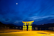 Shrine Island Prints - Itsukushima Shrine on Miyajima island Japan Print by Fototrav Print