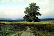 Delacroix Prints - Ivan Shishkin In the Open Valley1883  Print by MotionAge Art and Design - Ahmet Asar