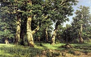 Caravaggio Paintings - Ivan Shishkin  Russian Art The Oak Grove 1887  by MotionAge Art and Design - Ahmet Asar