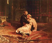 Rage Paintings - Ivan the Terrible and Son by Pg Reproductions