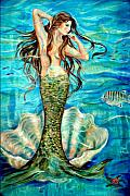 Fish Underwater Paintings - Ivana by Linda Olsen