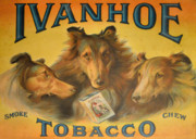 Cigarettes Posters - Ivanhoe Tobacco - The American Dream Poster by Christine Till
