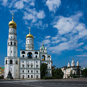 Archangel Photo Prints - Ivanovskaya Square Of Moscow Kremlin - Square Print by Alexander Senin