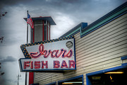 Spencer Mcdonald Framed Prints - Ivars Fish Bar Framed Print by Spencer McDonald