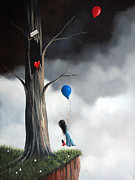 Pop Surrealism Paintings - Ive Been Waiting For You by Shawna Erback by Shawna Erback