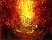 Warm Colors Paintings - Ive FALLen for you by Shana Rowe