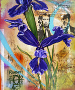 Pulp Mixed Media Acrylic Prints - Ive Got a Friend Named Iris Acrylic Print by Andrea LaHue aka Random Act