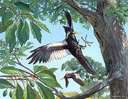 Ivory-billed Woodpecker Posters - Ivory-billed Woodpecker Poster by ACE Coinage painting by Michael Rothman
