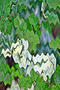 Textured Leaves Posters - Ivy Leaves Abstract Poster by Linda Phelps