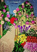Jan Steadman-jackson Prints - Ivy Pillars Print by Jan Steadman-Jackson