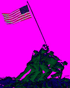 Flag Of Usa Prints - Iwo Jima 20130210 Print by Wingsdomain Art and Photography