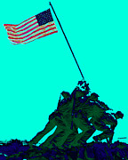 Flag Of Usa Prints - Iwo Jima 20130210m128 Print by Wingsdomain Art and Photography