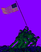Flag Of Usa Prints - Iwo Jima 20130210m28 Print by Wingsdomain Art and Photography