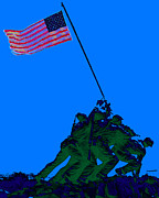 July 4th Digital Art Prints - Iwo Jima 20130210m88 Print by Wingsdomain Art and Photography