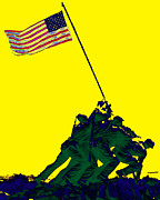 4th July Metal Prints - Iwo Jima 20130210p118 Metal Print by Wingsdomain Art and Photography
