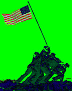 Flag Of Usa Prints - Iwo Jima 20130210p180 Print by Wingsdomain Art and Photography