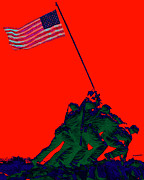 Flag Of Usa Prints - Iwo Jima 20130210p65 Print by Wingsdomain Art and Photography