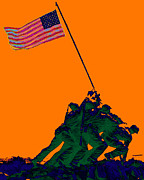 Flag Of Usa Prints - Iwo Jima 20130210p88 Print by Wingsdomain Art and Photography