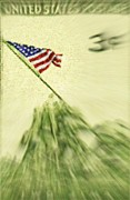 Stars And Stripes Mixed Media - Iwo Jima - 3 by Charles Ross