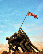 Usmc Prints - Iwo Jima Print by JC Findley