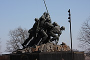 Raising Metal Prints - Iwo Jima Memorial - 12122 Metal Print by DC Photographer