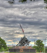 Hands Prints - Iwo Jima Memorial - Washington DC - 01131 Print by DC Photographer