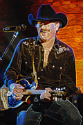 Franklin Tennessee Posters - Ix Brooks  BROOKS and DUNN Poster by Don Olea
