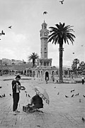 Town Clock Tower Posters - Izmir Clock Tower Poster by Ilker Goksen