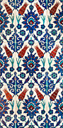 Ceramic Tile Prints - Iznik 01 Print by Rick Piper Photography