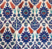 Ceramic Tile Prints - Iznik 02 Print by Rick Piper Photography