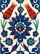 Ceramic Tile Prints - Iznik 03 Print by Rick Piper Photography