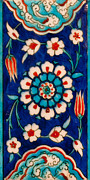 Flower Design Framed Prints - Iznik 11 Framed Print by Rick Piper Photography