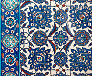 Ceramic Tile Prints - Iznik 12 Print by Rick Piper Photography